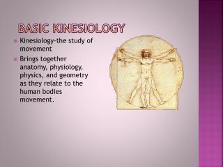 Basic Kinesiology