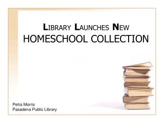 LIBRARY LAUNCHES NEW