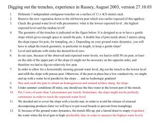Digging out the trenches, experience in Russey, August 2003, version 27.10.03