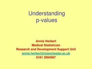 Understanding p-values