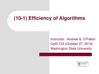 (10-1) Efficiency of Algorithms