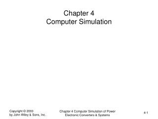 Chapter 4  Computer Simulation