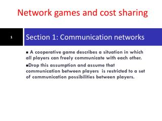 Section 1: Communication networks