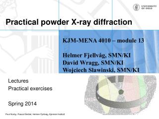 Practical powder X-ray diffraction