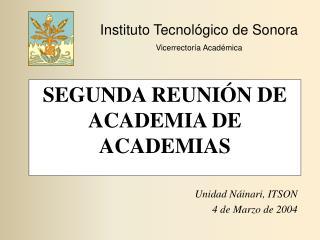 SEGUNDA REUNIÓN DE ACADEMIA DE ACADEMIAS