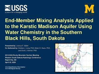 End-Member Mixing Analysis Applied to the Karstic Madison Aquifer Using Water Chemistry in the Southern Black Hills, Sou