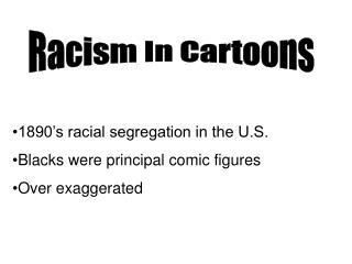 Racism In Cartoons