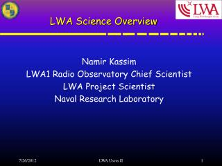 LWA Science Overview