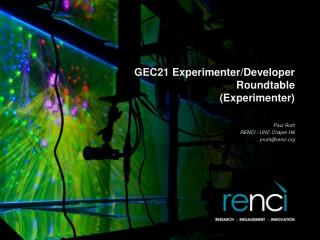 GEC21 Experimenter/Developer Roundtable (Experimenter)