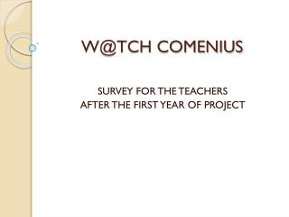 W @TCH COMENIUS