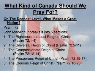 What Kind of Canada Should We Pray For?