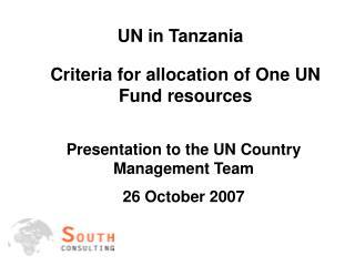 UN in Tanzania