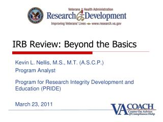 IRB Review: Beyond the Basics