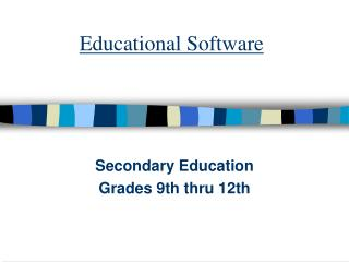 Educational Software