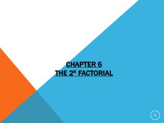 Chapter  6 The 2 k  Factorial