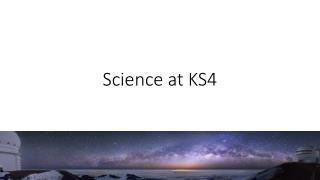 Science at KS4