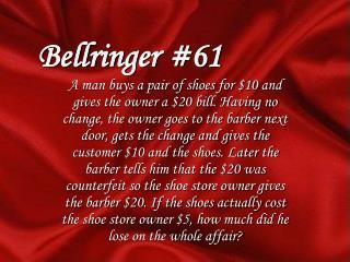 Bellringer #61