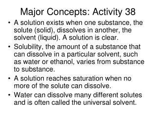 Major Concepts: Activity 38