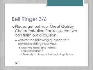 Bell Ringer 3/6