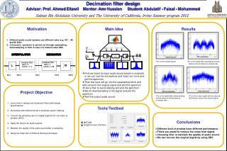 Decimation filter design