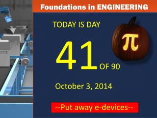 Foundations in ENGINEERING