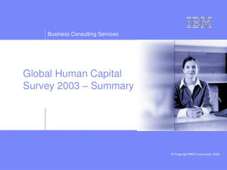 Global Human Capital Survey 2003 – Summary