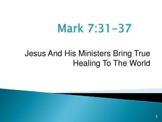 Mark 7:31-37
