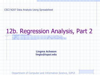 12b. Regression Analysis, Part 2