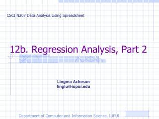 12b. Regression Analysis, Part 2