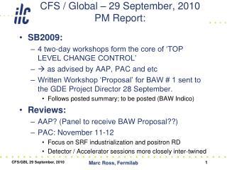 CFS / Global – 29 September, 2010 PM Report: