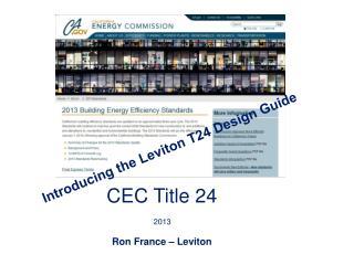 CEC Title 24
