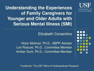 Elizabeth Corsentino Victor Molinari, Ph.D., ABPP, Advisor Lori Roscoe, Ph.D., Committee Member