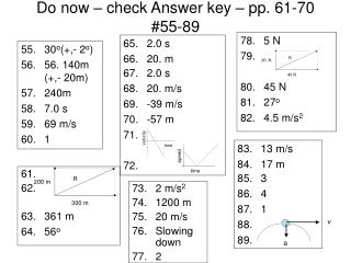 Do now – check Answer key – pp. 61-70 #55-89