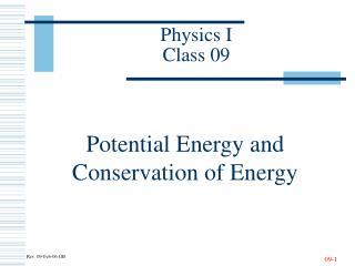 Physics I Class 09