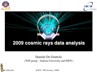 Daniele De Gruttola (TOF group � Salerno University and INFN )