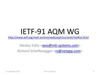 IETF-91  AQM WG