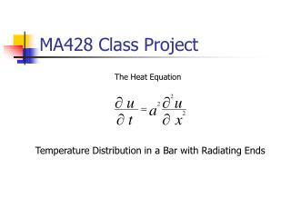MA428 Class Project