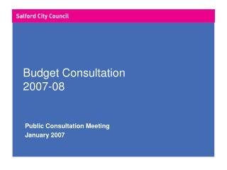 Budget Consultation 2007-08