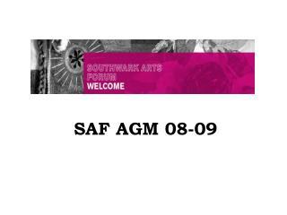 SAF AGM 08-09