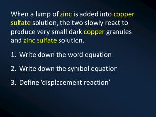 1. Write down the chemical formulae for these ionic compounds: Silver Chloride Magnesium  Sulfate