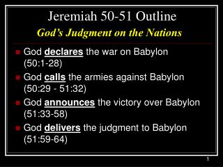 Jeremiah 50-51 Outline