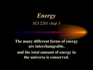 Energy SCI 2201 chap 3