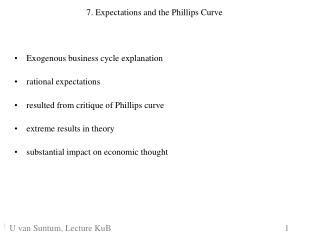 7. Expectations and the Phillips Curve