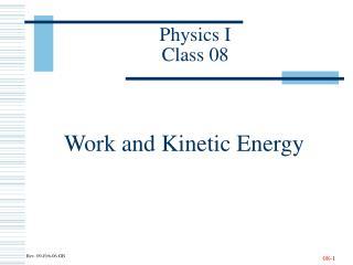 Physics I Class 08