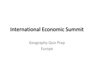 International Economic Summit