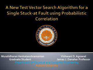 A New Test Vector Search Algorithm for a Single Stuck-at Fault using Probabilistic Correlation