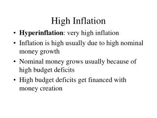 High Inflation