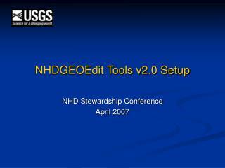 NHDGEOEdit Tools v2.0 Setup