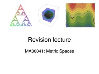 Revision lecture