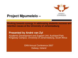 Presented by André van Zyl